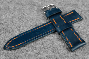 RM: Italian Blue Full Stitch Leather Watch Strap (24/22)