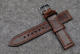 RM: Horween Chromexcel Brown Full Stitch Leather Watch Strap (20/18)