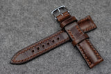 RM: Horween Chromexcel Brown Half Padded Leather Watch Strap (20/18)