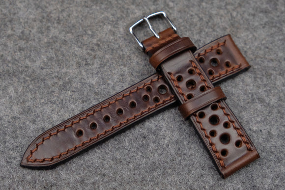 RM: Horween Chromexcel Brown Racing Leather Watch Strap (20/18)