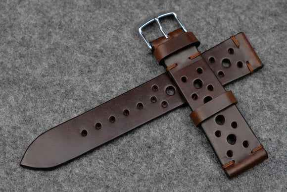 RM: Horween Chromexcel Brown Unlined Racing Leather Watch Strap (20/18)