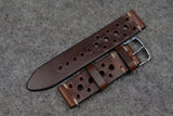 RM: Horween Chromexcel Brown Unlined Racing Leather Watch Strap (20/20)
