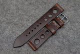 RM: Horween Chromexcel Brown Unlined Rally Leather Watch Strap (20/18)