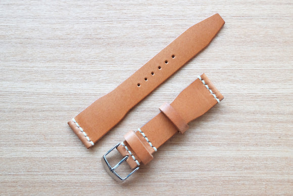 OO: Italian Sand Unlined Leather Watch Strap (22/18)