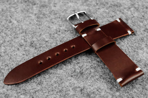 RM: Japanese Shell Cordovan Brown Unlined Watch Strap (19/16) -SOLD