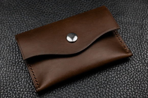 NEW: Italian Leather Snap Wallet (Espresso)