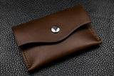 Italian Leather Snap Wallet (Espresso)