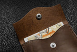 Customizable Italian Leather Snap Wallet