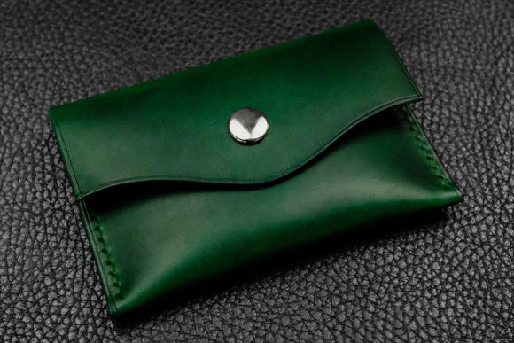 Italian Leather Snap Wallet (Green)