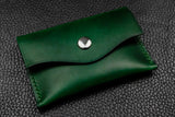 NEW: Italian Leather Snap Wallet (Green)