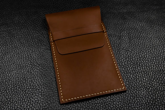Italian Leather Watch Pouch (Chocolate)