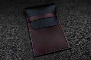 Italian Leather Watch Pouch (Navy|Purple)