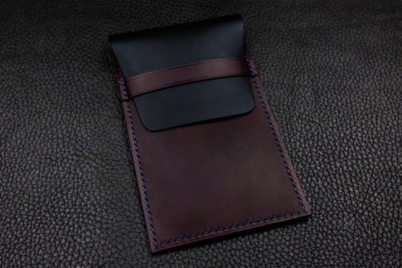 NEW: Italian Leather Watch Pouch (Navy|Purple)