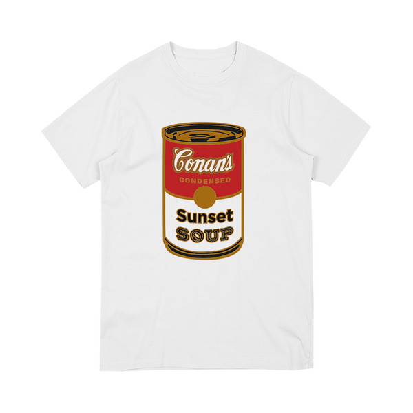 SUNSET SOUP WHITE TEE