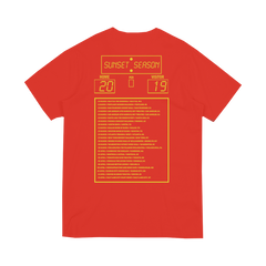 LOGO SUNSET TOUR 2019 RED TEE
