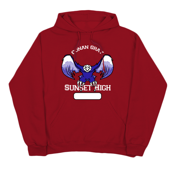 SUNSET HIGH RED PULLOVER HOODIE + EP