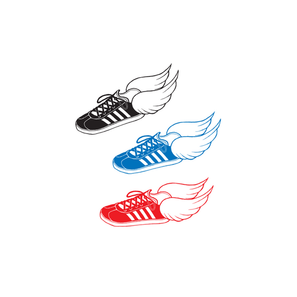 THREE PIECE SHOE STICKER SET
