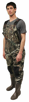 Bushline Outdoor Insulated Chest Waders Mossy Oak Print Sizes 8-13