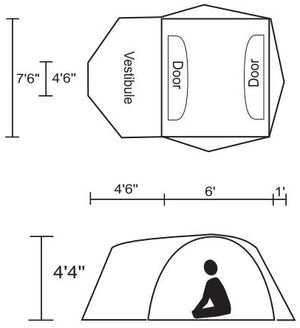 Chinook Whirlwind 3 Person 3-Season Tents with Fibreglass Poles