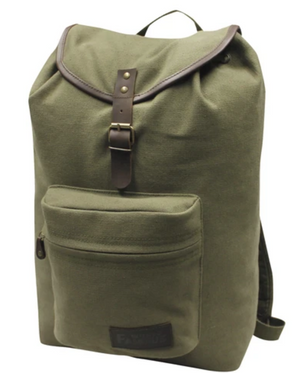 World Famous Georgina Canvas 23L Daypack with Padded Laptop Sleeve