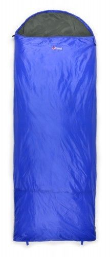Chinook ThermoPalm Hooded Rectangle Sleeping Bag 10C/50F Blue