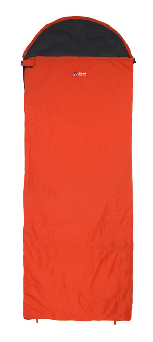Chinook ThermoPalm Hooded Rectangle Sleeping Bag 10C/50F Orange