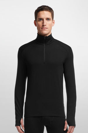 Icebreaker Mens Tech Top Long Sleeve Half Zip - 260gm - Merino wool