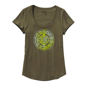 Patagonia Womens Sun Rose Cotton Scoop Neck Casual T-Shirts