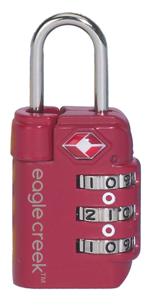 Eagle Creek Travel Safe TSA Lock Cherry Red