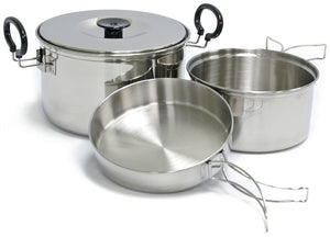 Chinook Plateau Stainless Steel Expedition Cookset