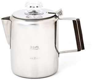 Chinook Timberline Stainless Steel Coffee Percolators 3-12 Cup