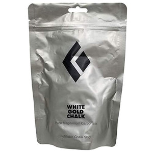 Black Diamond Refillable Chalk Shot, White Gold Chalk