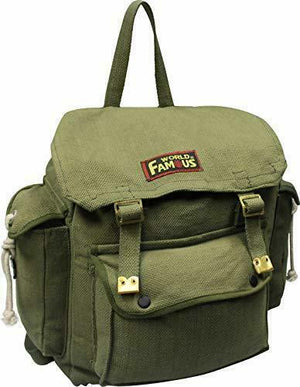 World Famous 23L Cotton Canvas Web Rucksacks with Pack Straps