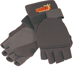 Bushline Outdoors Neoprene Flip Mitts Convertible Fishing Gloves