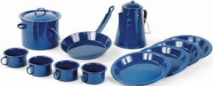 World Famous Blue Enamel Cook Set - 13 piece