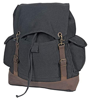 World Famous Heritage Canvas Laptop Pack 36L Black