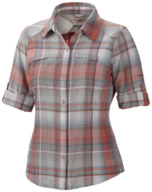 Columbia Women's Silver Ridge Plaid Long Sleeve Shirt, Small-XL