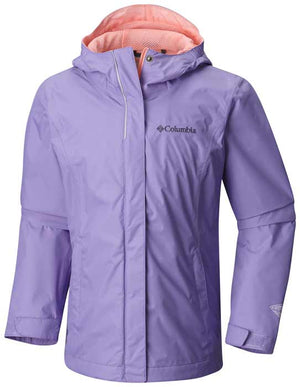 Columbia Girl's Arcadia Jacket Waterproof Rain Coat