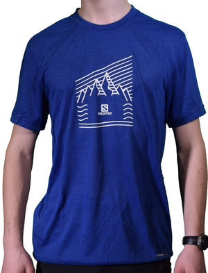 Salomon Mens Explore Graphic Short Sleeve Active Tees