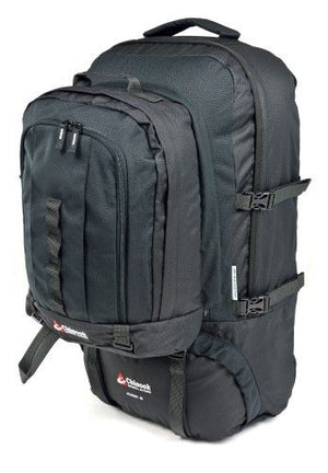 Chinook Journey 65L Black Travel Backpack, Removable Daypack - Great for Europe!