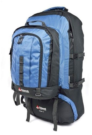 Chinook Journey 75L Blue Travel Backpack, Removable Daypack