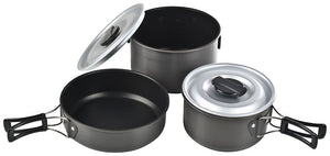 Chinook Ridge Hard Anodized Non-Stick Cookset, Camp, 5-piece, Large