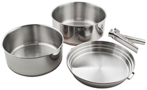 Chinook Plateau Stainless Steel Cookset, 2 Person