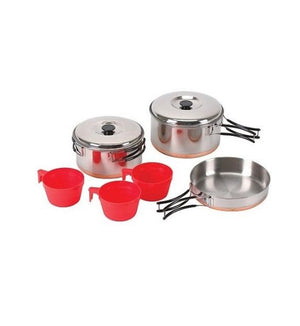 Chinook Ridgeline Stainless Steel Trio Cookset w/ Copper Bottom