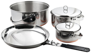 Chinook Ridgeline Camp Cookset, Stainless Steel w/ Copper Bottom