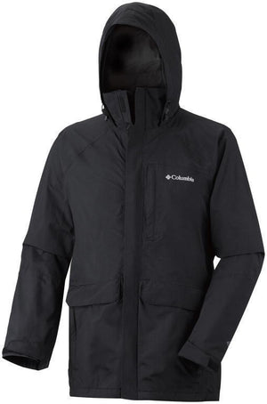Columbia Longer Miles Jacket, Mens Waterproof, Black, S