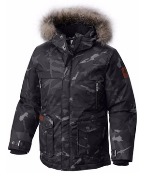 Columbia Boys Barlow Pass 600 TurboDown Waterproof Insulated Jackets Size Small