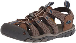 Keen Clearwater CNX Men Sandal, Water Shoe,Dark Earth/Blue Opal