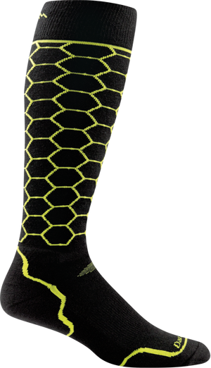Darn Tough Men's Honeycomb Over-the-Calf Light, Limey, L
