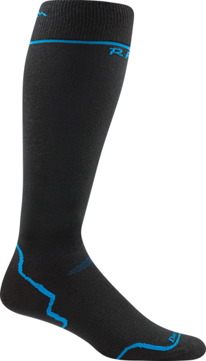 Darn Tough Men's Thermolite RFL Over-the-Calf Ultra-Light, Black/Blue, L